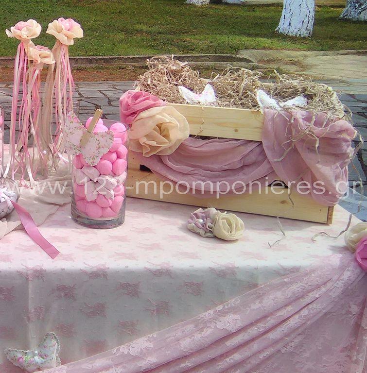 Στολισμός βάπτισης ροζ ρομαντικός_04