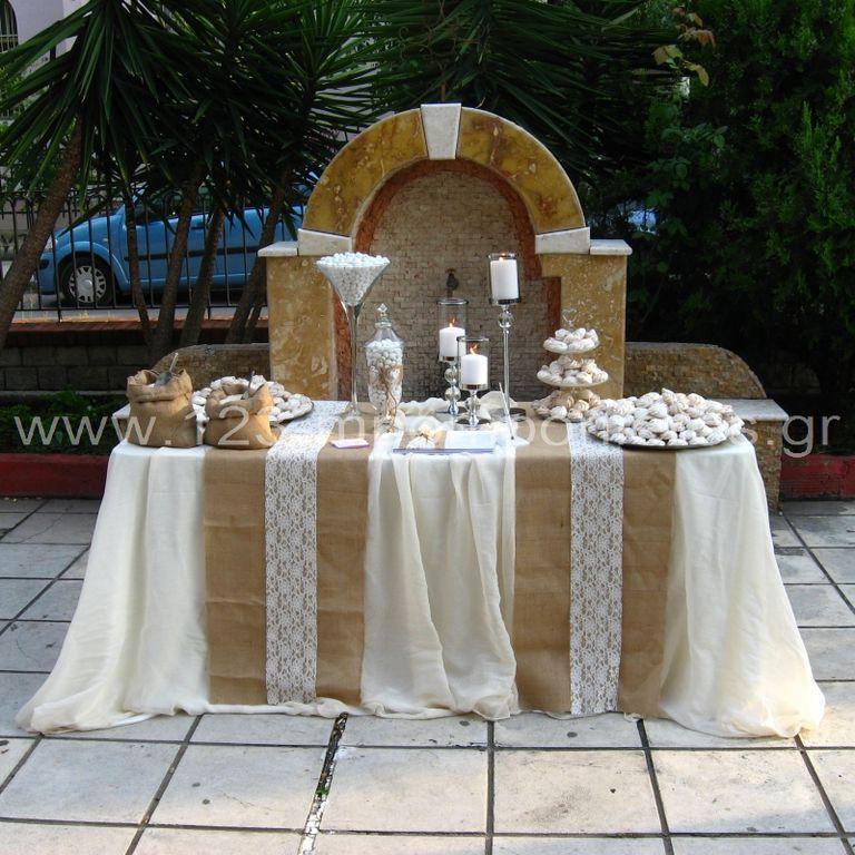Στολισμός γάμου λινάτσα και δαντέλα_07
