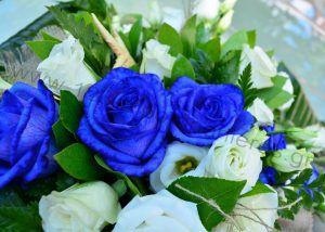 Στολισμός γάμου μπλε τριαντάφυλλα_05