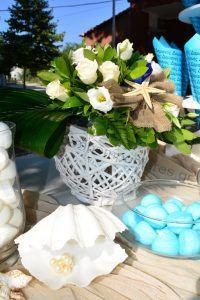 Στολισμός γάμου μπλε τριαντάφυλλα_15