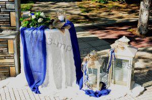 Στολισμός γάμου μπλε τριαντάφυλλα_24