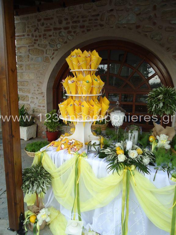 Στολισμός γαμοβάπτισης ελιά λεμόνια_23