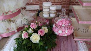 Στολισμός γαμοβάπτισης τριαντάφυλλα_05