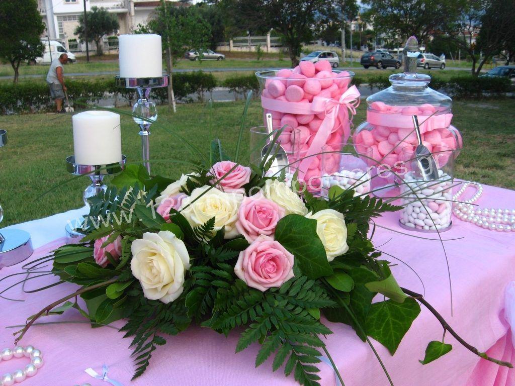 Ρομαντικός στολισμός γάμου ροζ_13
