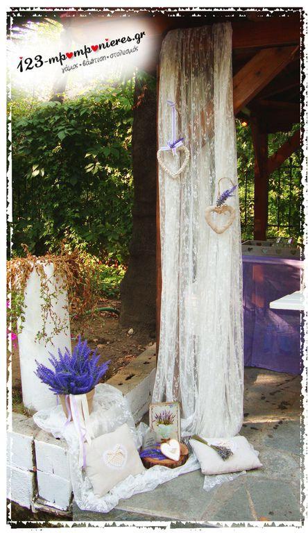 Στολισμός βάπτισης με θέμα Λεβάντα_06